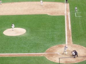 Escena típica de béisbol