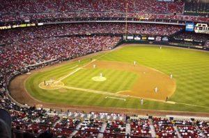 Vista de un campo de béisbol